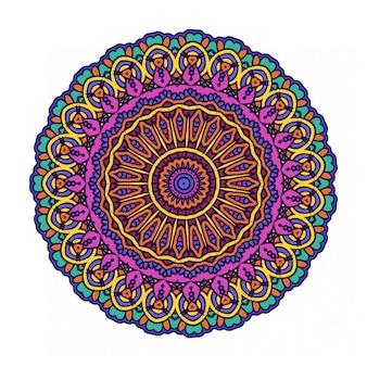 Círculo abstrato redondo colorido com estilo mandala