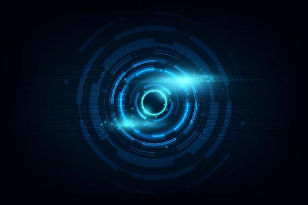 Círculo abstrato sci fi futurista tecnologia inovação fundo