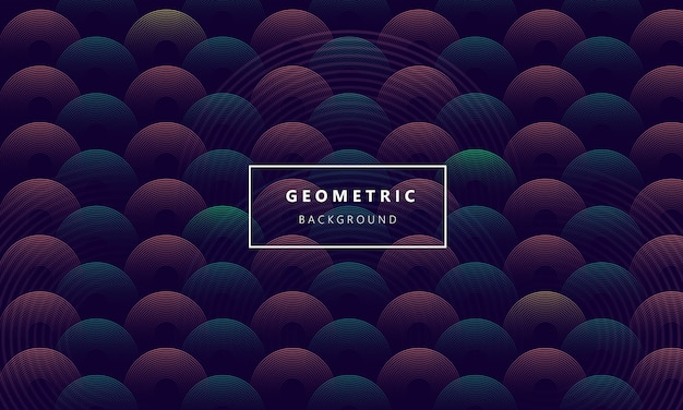 Círculo abtract fundo geométrico moderno