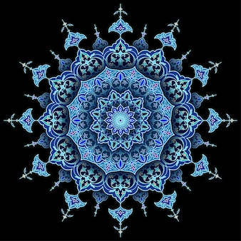 Círculo árabe floral vetor islâmico fundo