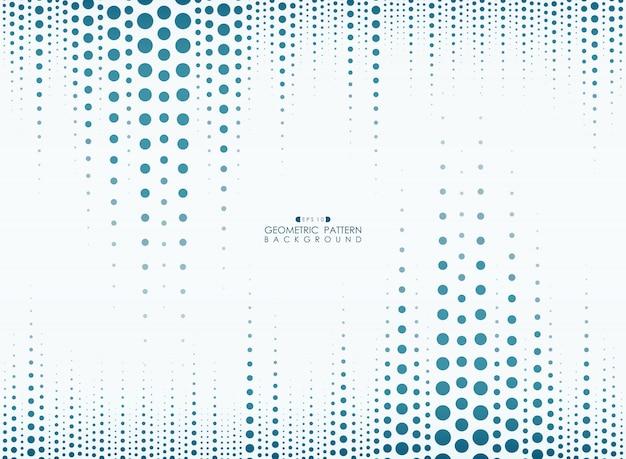 Círculo azul linha padrão geométrico vertical