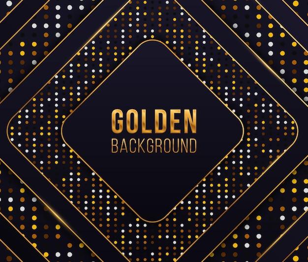 Círculo cintilante de fundo luxuoso com glitter dourado