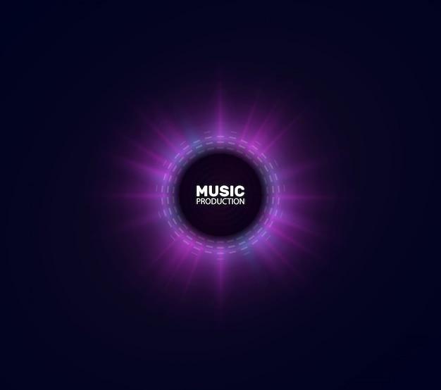 Círculo colorido da onda sonora