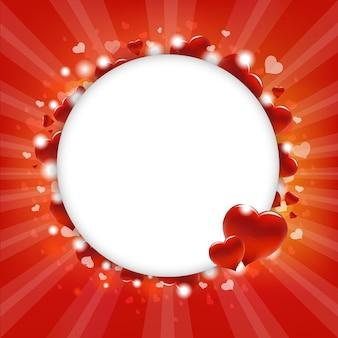 Círculo com corações