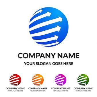 Círculo conjunto globo logotipo