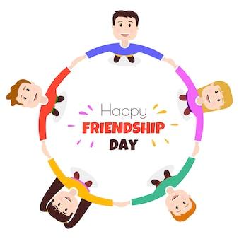 Círculo de amigos do dia internacional da amizade