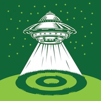 Círculo de colheita ufo