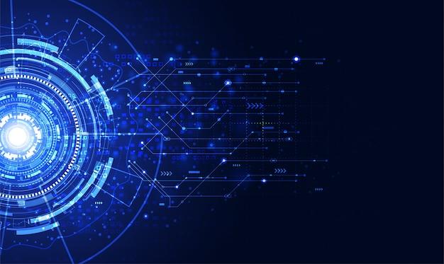 Círculo de comunicação de tecnologia moderna