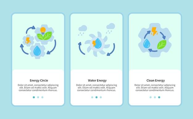 Círculo de energia para modelo de aplicativo móvel ui web