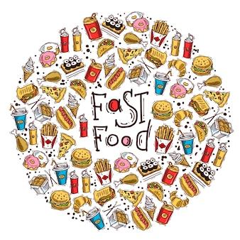 Círculo de fast food