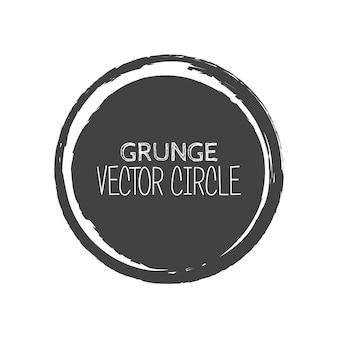 Círculo de grunge de vetor. elemento para o seu projeto. textura carimbo de borracha. quadro de borda de socorro.
