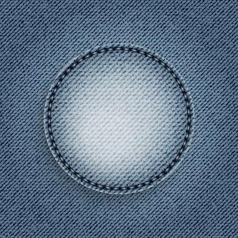 Círculo de jeans azul