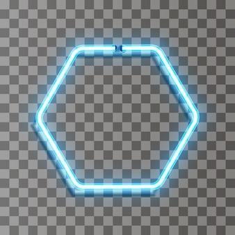 Círculo de linha de luz neon de vetor em movimento