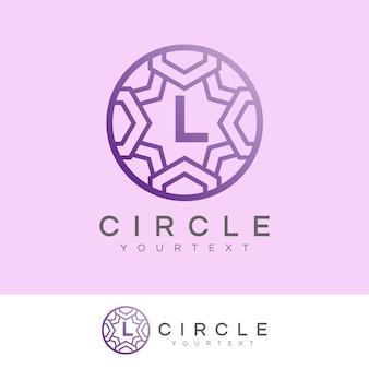 Círculo de luxo inicial letra l design do logotipo