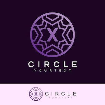 Círculo de luxo inicial letter x logo design