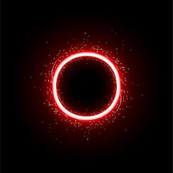 Círculo de luz vermelha