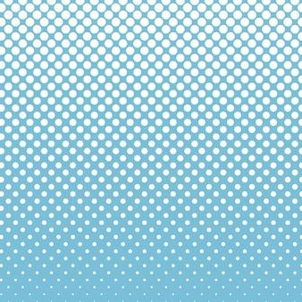 Círculo de meio-tom com pontos azuis de fundo de desenho vetorial