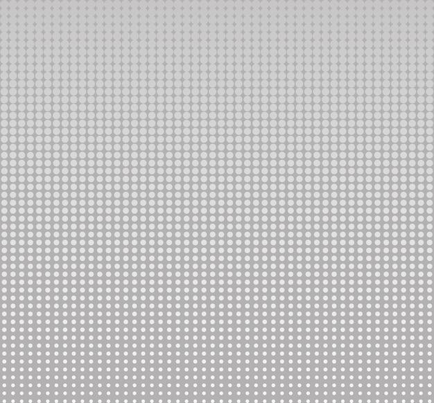 Círculo de meio-tom sem costura, pontos de fundo de vetor abstrato ou textura para modelo de design