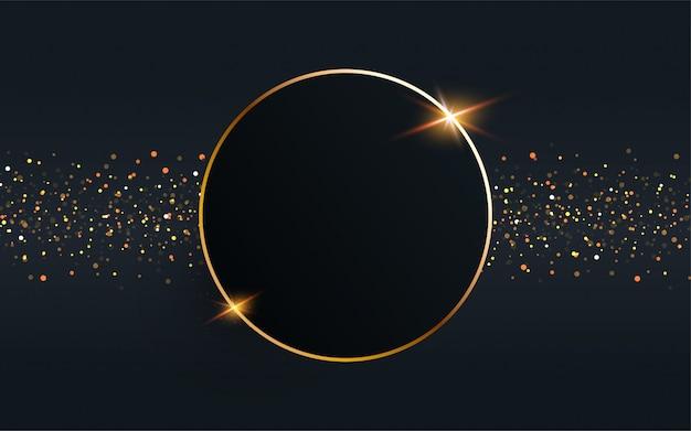 Círculo de ouro quadro de fundo vector.