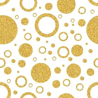 Círculo de ouro sem costura de fundo elementos gráficos e de círculo padrão sem emenda abstrato