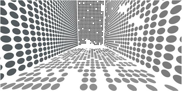 Círculo de perspectiva abstrata simulando a atmosfera da cidade.