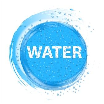 Círculo de respingos de água.