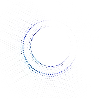 Círculo de tecnologia com pontos.