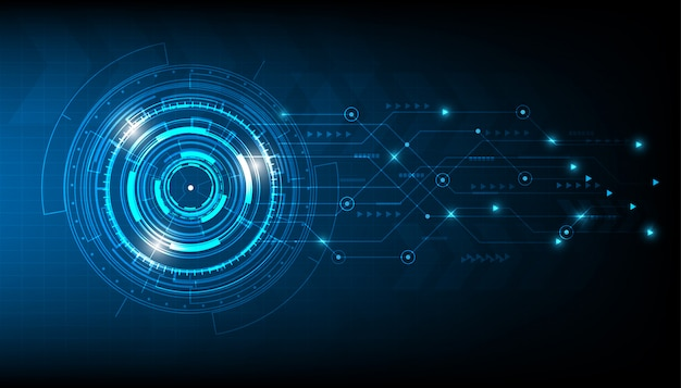 Círculo de tecnologia de vetor e fundo de tecnologia