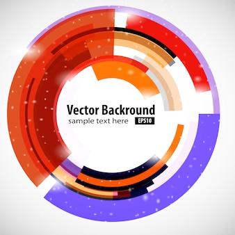 Círculo de tecnologia moderna abstrata. ilustração vetorial fundo abstrato para o seu negócio