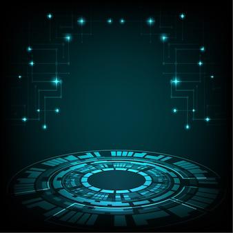 Círculo digital de tecnologia e tecnologia de negócios digitais