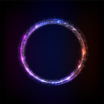 Círculo efeito de luz brilhante