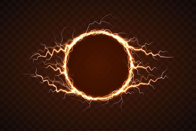 Círculo elétrico com efeito relâmpago