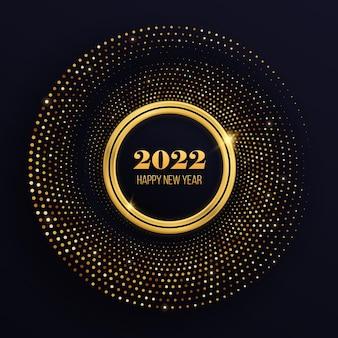 Círculo festivo para design gráfico fundo texturizado abstrato com padrão de meio-tom dourado brilhante