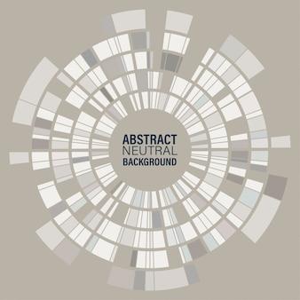 Círculo geométrico mosaico abstrato
