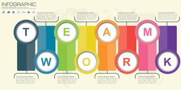 Círculo infográfico. modelo de diagrama, gráfico, apresentação e gráfico. conceito de negócios, peças, etapas ou processos.