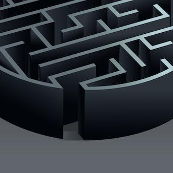 Circulo labirinto 3d