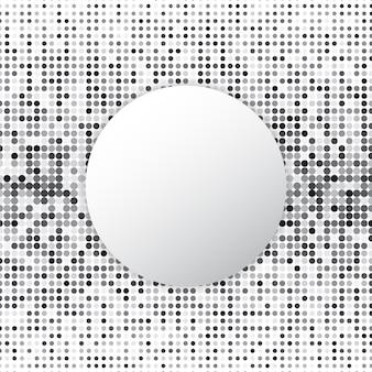 Círculo meio-tom ponto abstrato