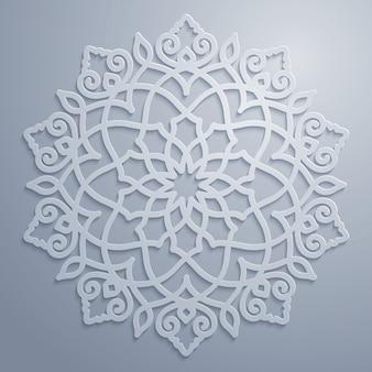 Círculo ornamental árabe padrão geométrico