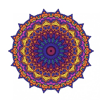 Círculo redondo ornamento com estilo mandala