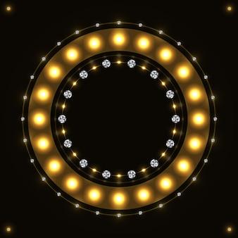 Círculo redondo ouro abstrato