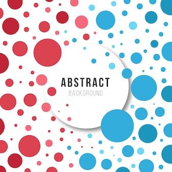 Círculo vermelho e fundo abstrato azul