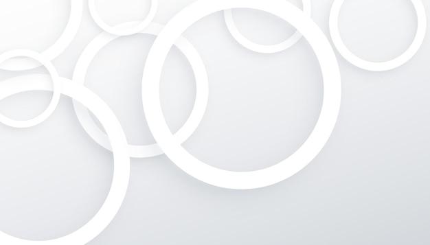 Círculos 3d com linhas brancas de fundo