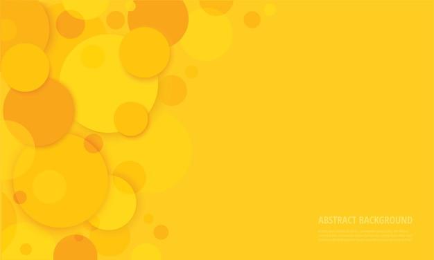 Círculos abstratos com fundo amarelo