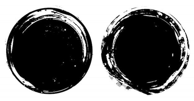Círculos angustiados pretos