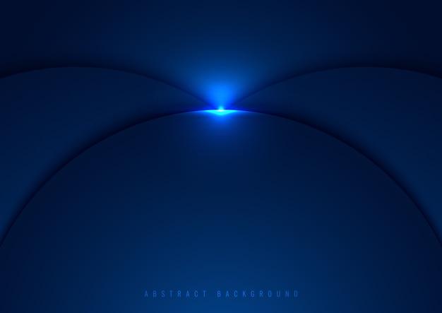 Círculos azuis em camadas com efeito de luz brilhante
