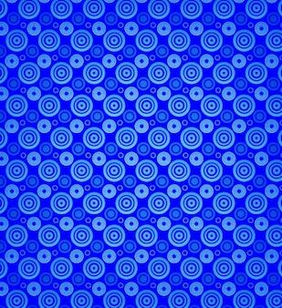 Círculos azuis sem emenda do vetor