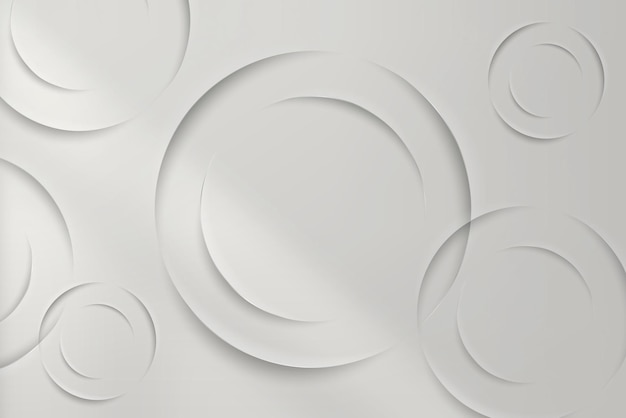 Círculos brancos com fundo de sombra projetada