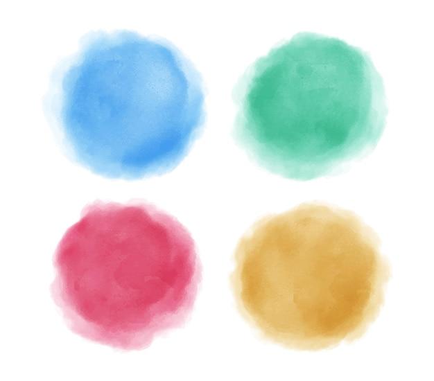 Círculos coloridos abstratos em aquarela