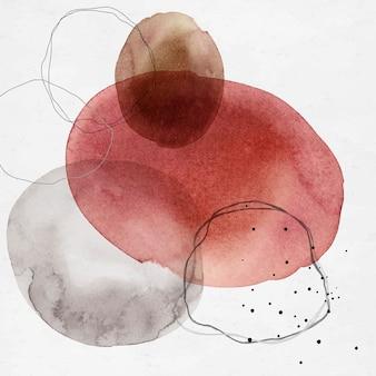 Círculos coloridos de aquarela abstratos