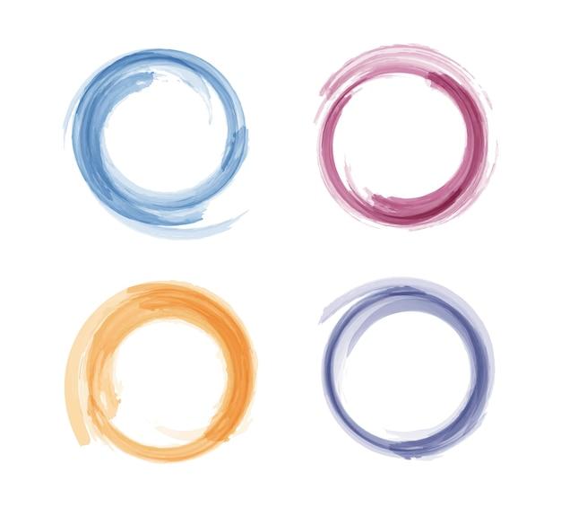 Círculos coloridos em aquarela